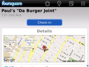free Foursquare BlackBerry application