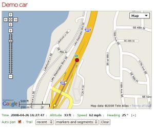 GPS Tracker Blackberry application