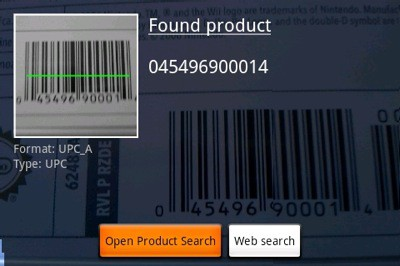 barcode scanner app for android