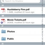 Take everything everywhere with Dropbox App for iPhone