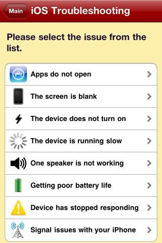 uFix App for iPhone