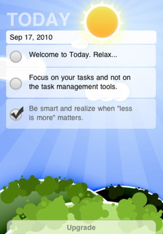 Today To-Do Basic App for iPhone