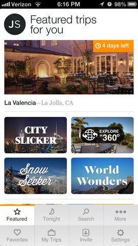 Jetsetter App for iPhone