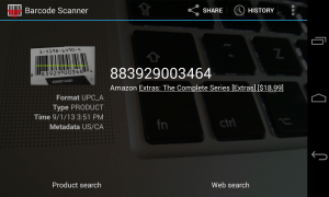 NeoReader QR Barcode Scanner App for Android