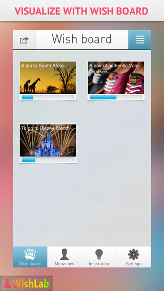 WishLab App for iPhone