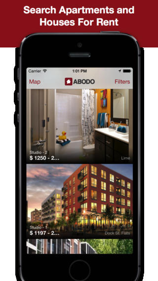 ABODO Apartment Search App for iPhone