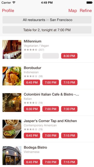 Opentable App For Restaurant Owners >> OpenTable Restaurant Reservations iPhone App Review