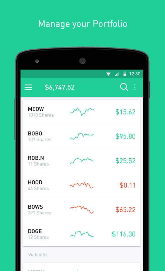 Size Top To Bottom Robinhood