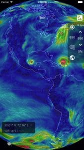 Wind map 3d hurricane tracker iphone app review the app also provides future predictions other notable features of wind map app include whole world anemometer hurricane tracker that watches the eye of gumiabroncs Image collections