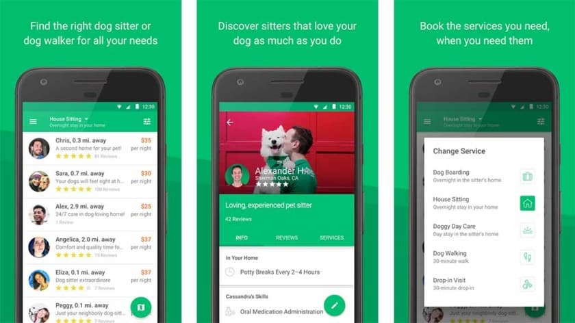 Rover - Dog Boarding & Walking Android App Review