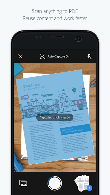 Adobe scan pdf scanner ocr for android review adobe scan easily scans forms receipts notes and business cards you can scan multipage documents and save it with a single tap reheart Gallery