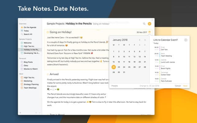 Agenda iPhone Note Taking App Review