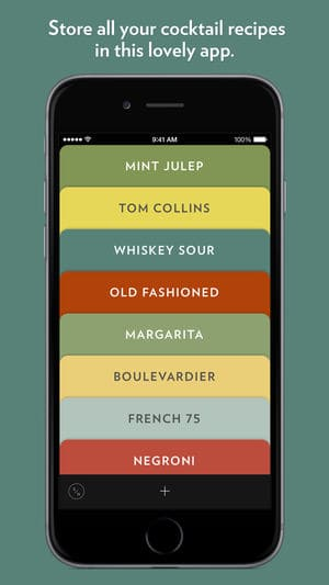 Highball Share Collect Cocktails iPhone App Review
