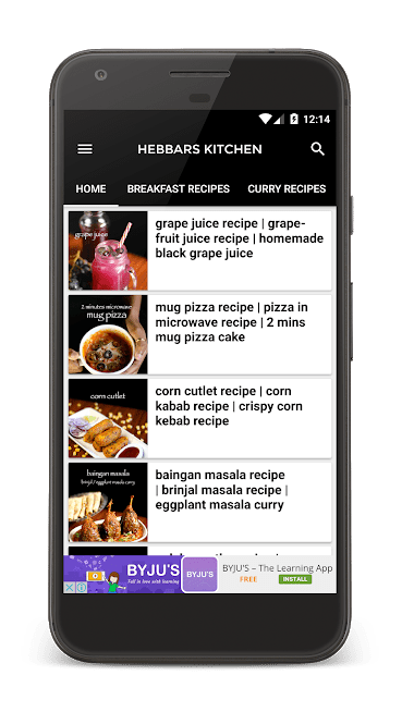 Hebbars kitchen Android App Review