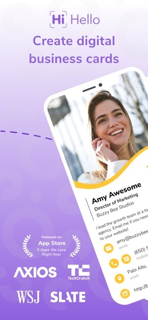 HiHello Digital Business Card Android App Review