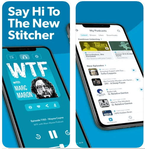 Stitcher Podcast Player iPhone App Review