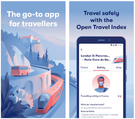 Omio Android Europe Travel App