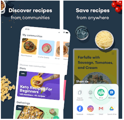 Whisk Meal Planner Grocery List Android App