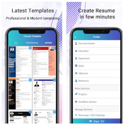 Resume Builder Free CV Maker Android App