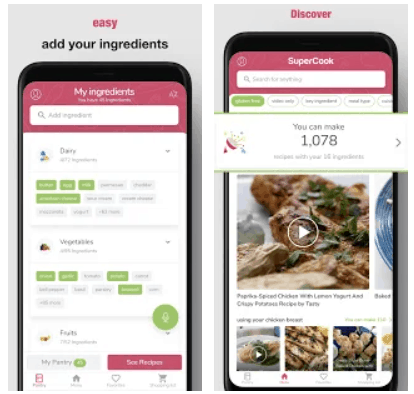 SuperCook Recipes By Ingredient Android App Review
