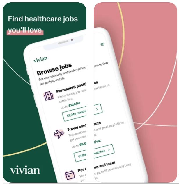 Vivian Find Healthcare Jobs iPhone App