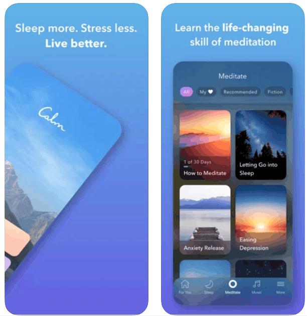 Calm Sleep Meditation iPhone App Review